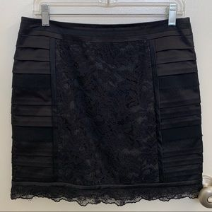 Nanette Lepore Tiered Lace Overlay Mini Skirt